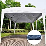 EZ POP UP Wedding Party Tent 10'X20′ Folding Gazebo Beach Canopy W/Carry Bag (White)
