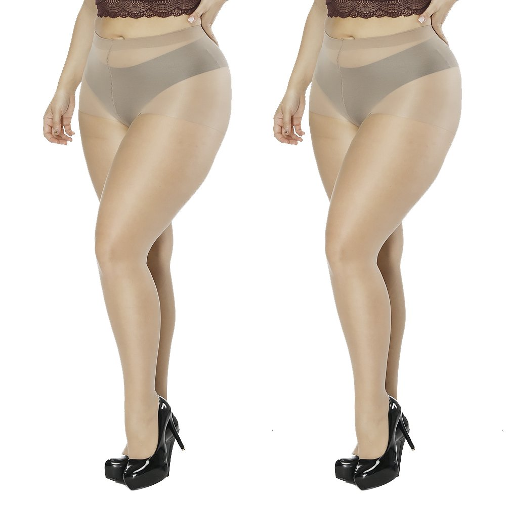 Aeakey Women's Plus Size Tights High-waisted Tight Stockings Thigh-high Stockings Pantyhose
