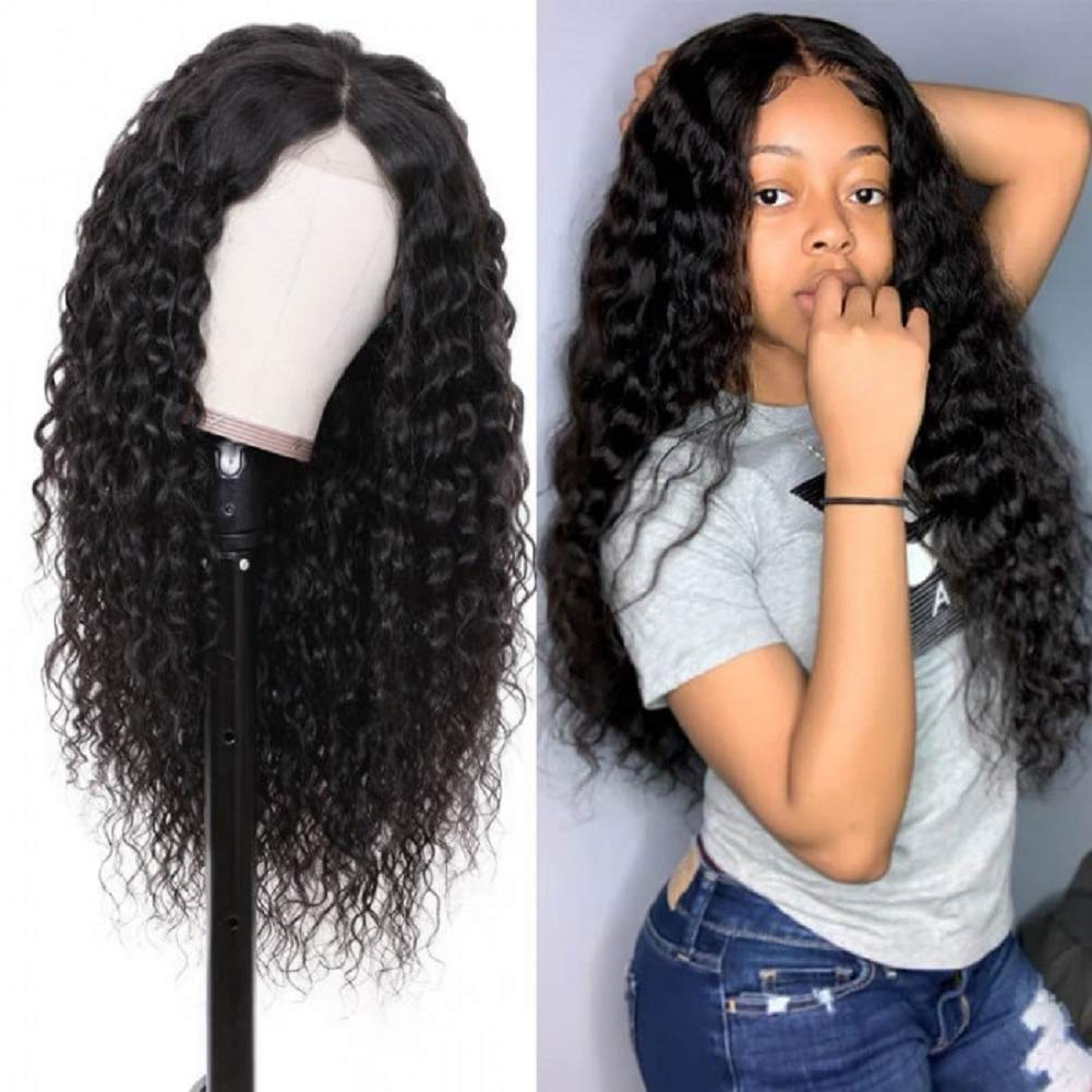 Amazon Com 13x6 Transparent Human Hair Lace Front Wigs 150 Density Water Wave 14 Inches Vivi Babi Brazilian Human Hair Wig For Black Women Beauty
