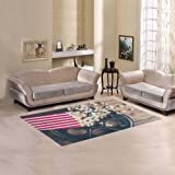 your-fantasia Sweet Home Modern Stores Area Rug Carpet Cover Home Decoration Cinema Concept with Popcorn on Wooden Surface