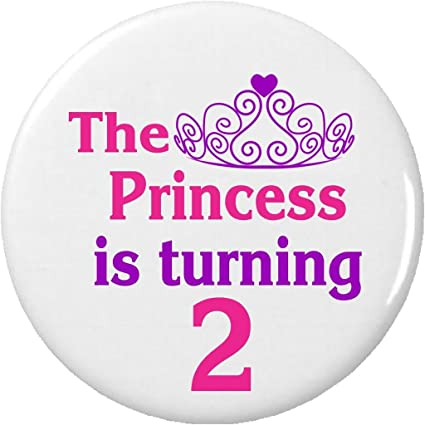 Amazon The Princess Is Turning 2 Two 225 Large Magnet Happy