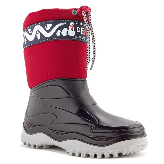 DEMAR Botas De Invierno De Niño Zapatos forrado FROST - Rojo, 24/25 EU