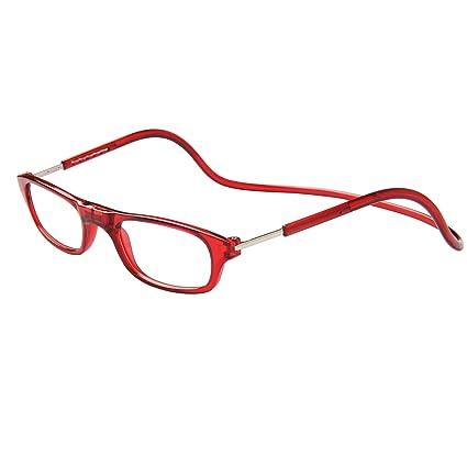 8b17cfd29e Jee gafas de lectura hombre mujer reading glasses con iman OL02(rojo,+1.50