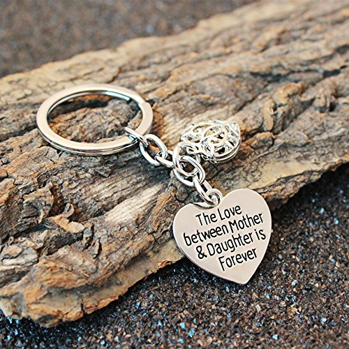 Mother's Day Gift Love Between Mother Daughter Is Forever Double Heart Key Chain Ring for Family Women Photo #5