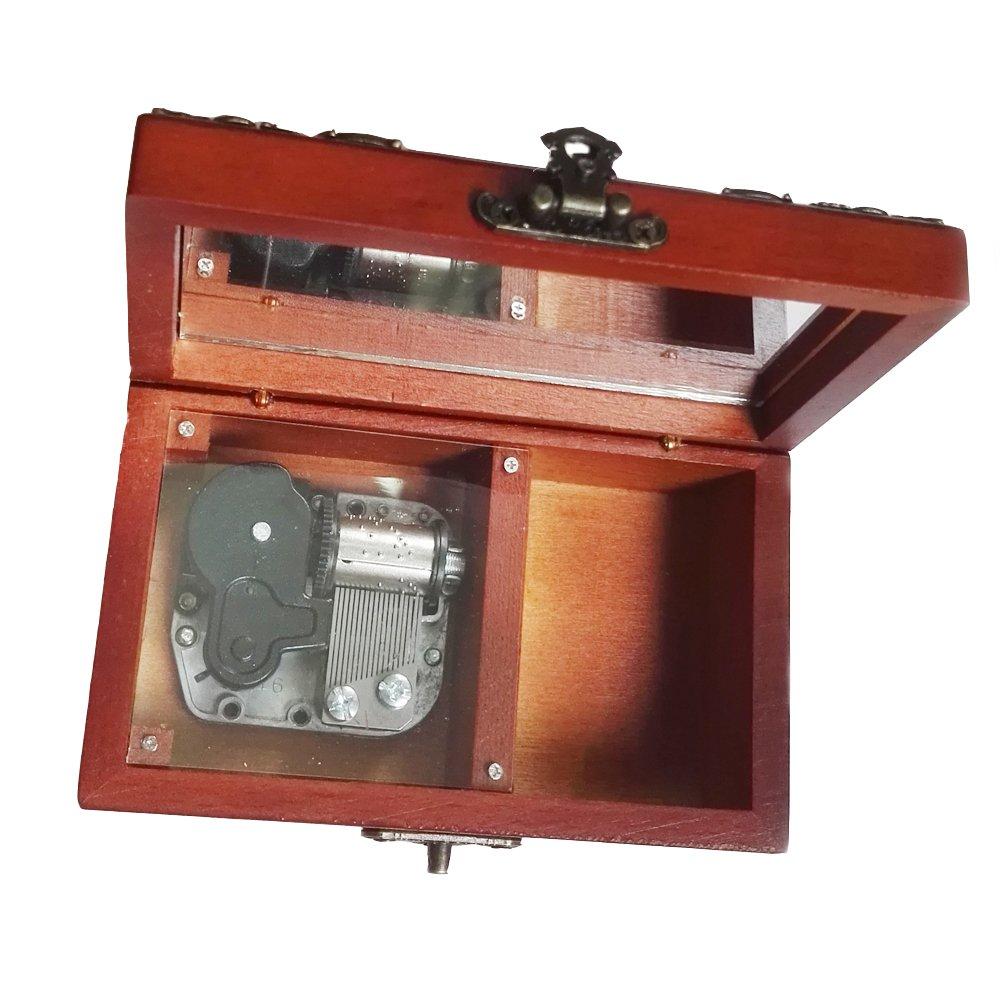 【最安値】 18 NoteアンティークレースWind - - Up Wooden Musicalボックス、スモールサイズストレージ音楽ボックス 18、Edelweiss音楽ボックス B075SY8QM6 ゴールド B075SY8QM6 シルバー シルバー, タイハクク:1030a6fb --- arcego.dominiotemporario.com