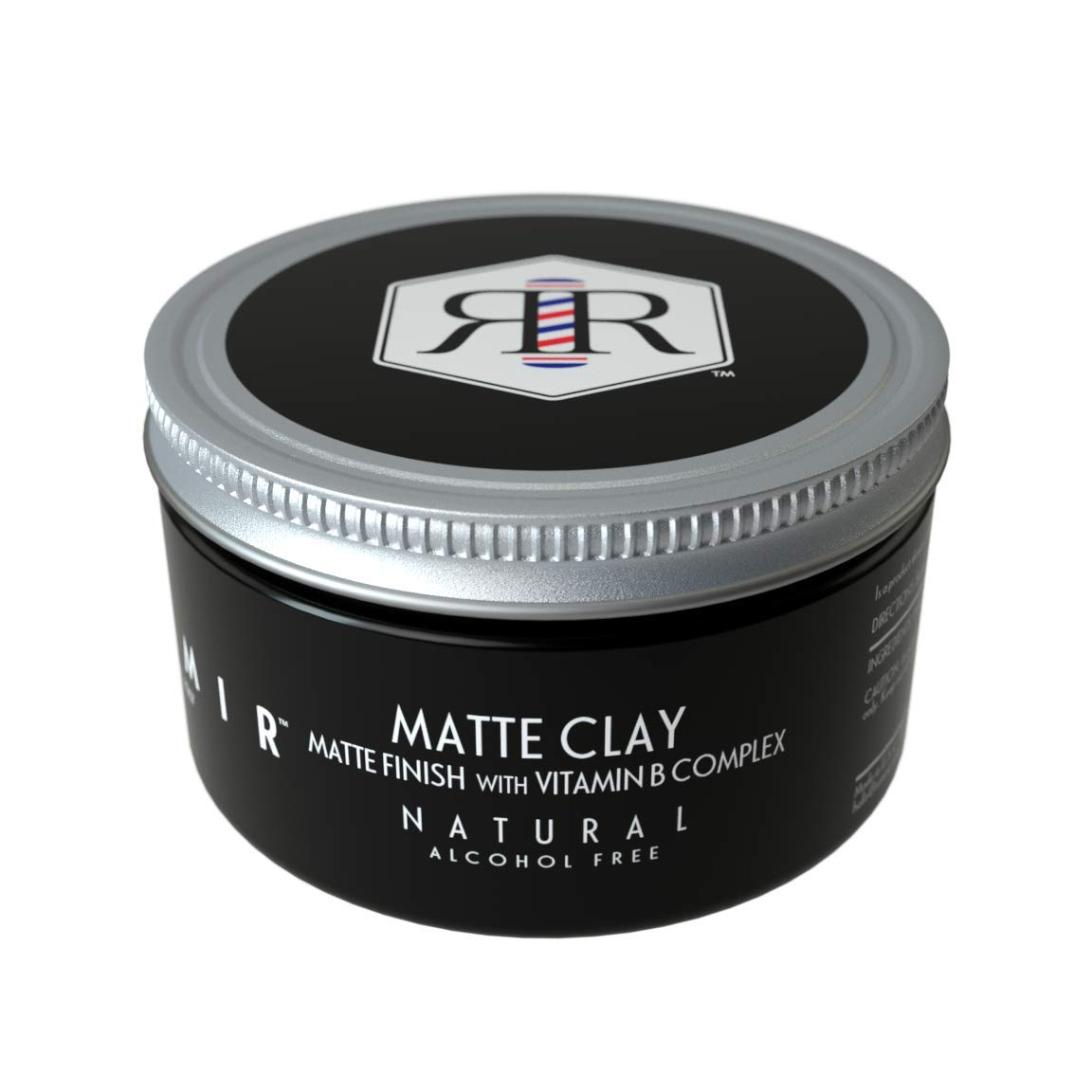 Reamir Men's Hair Styling Matte Clay - Men's Hair Styling Product - Medium Hold Matte Finish - Frizz Protection - All Natural 4 oz by REAMIR & CO