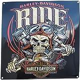 Harley Davidson Ride Bone Sign Tin Sign 15 x 15in