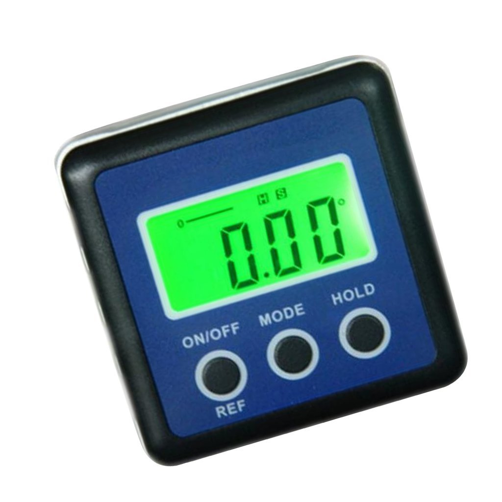 Fityle 4x90 degree Mulit function Mini digital Inclinometer/Protractor Blue