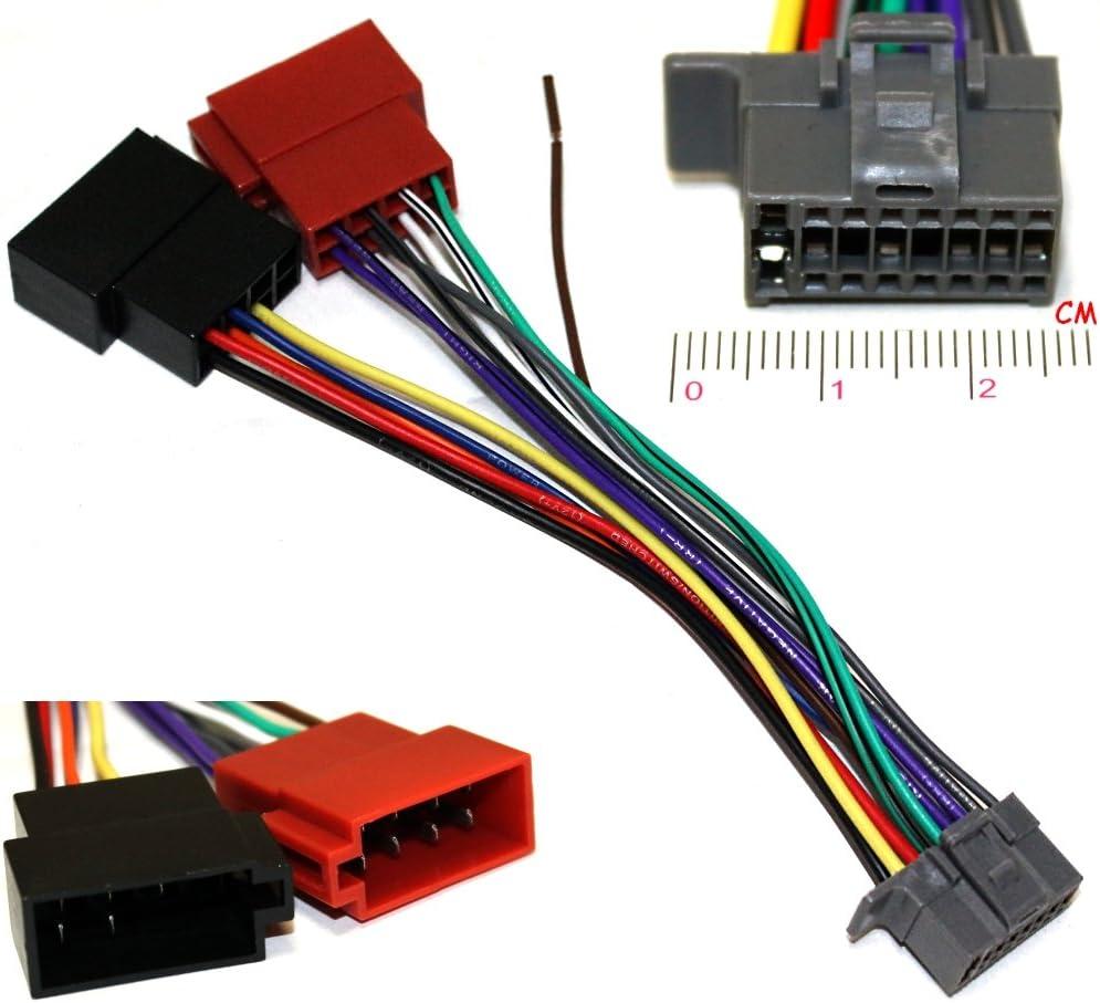 Cable ISO conector Auto Radio Adaptador de Corriente altavoces autoradio sintonizador DIN