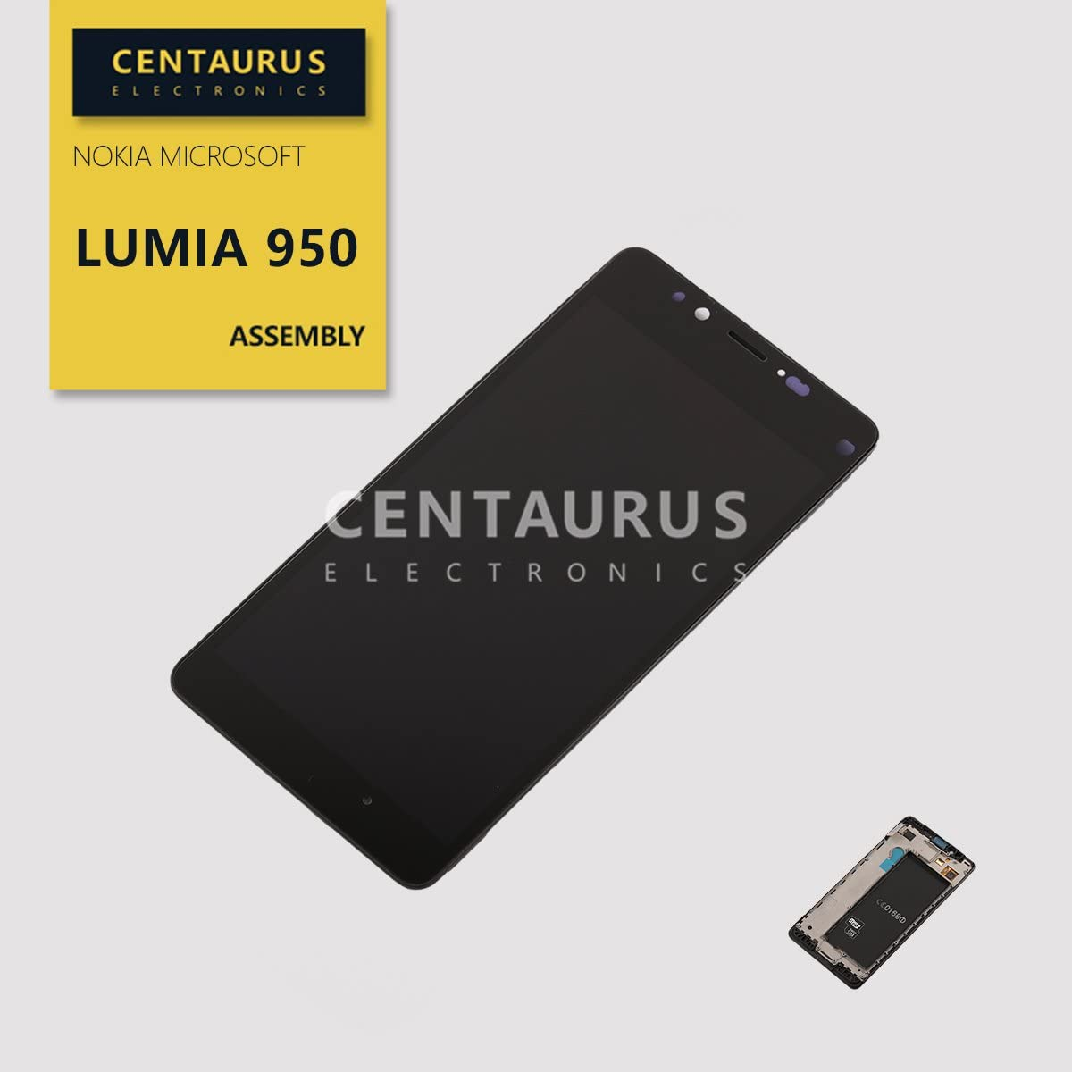 Pantalla LCD de 5.2 para Microsoft Lumia 950.Negro
