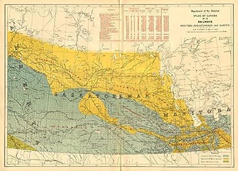 Amazon.com: CANADA Railways. Manitoba Saskatchewan Alberta ... on lakes in canada map, european map, canada physical map, chinese map, prince edward island map, costa rican map, united states map, washington map, banff canada map, canda map, serb map, american map, french map, p.e.i map, vancouver canada map, canada provinces map, alaska map, blank canada map, uk map, british columbia map,
