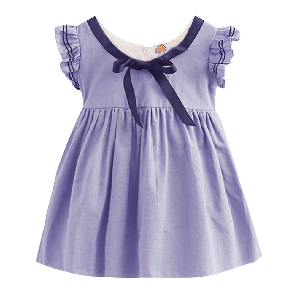 Mud Kingdom Preppy Girls Dresses Butterfly Sleeve S-Q0118