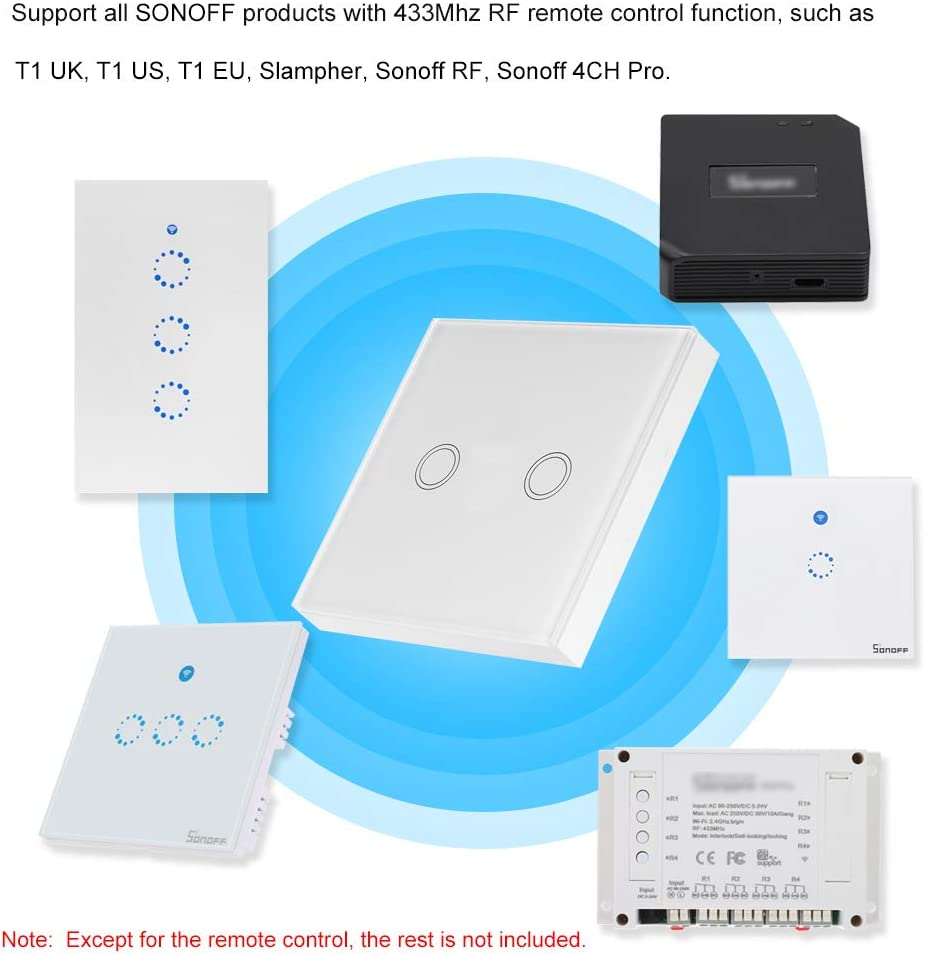 1 Unidad Extaum Panel t/áctil de Pared Sticky T433 86 Tipo 433MHz Transmisor de Control Remoto inal/ámbrico RF M/ódulos de automatizaci/ón