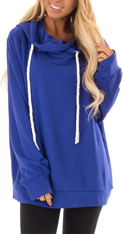 Suéter con Capucha de otoño e Invierno para Mujer, cinturón de Color sólido con cordón, Manga Larga, Jersey Suelto, Camisa para Mujer