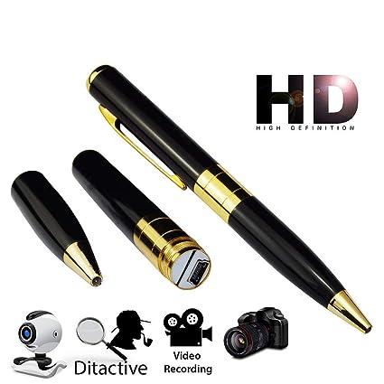 Bolígrafo con cámara espía con grabador de Audio de foto y vídeo HD (),