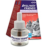 FELIWAY Friends Diffuser Refill, 1-Pack (FELIWAY MultiCat Refill) - Specifically Helps Reduce Fighting, Tension & Conflicts Between Cats in The Home - (30 Day Supply)