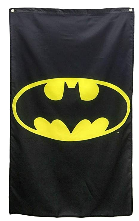 e1965aae99 Amazon.com   DC Comics- Batman Logo Banner Fabric Poster 30 x 50in ...
