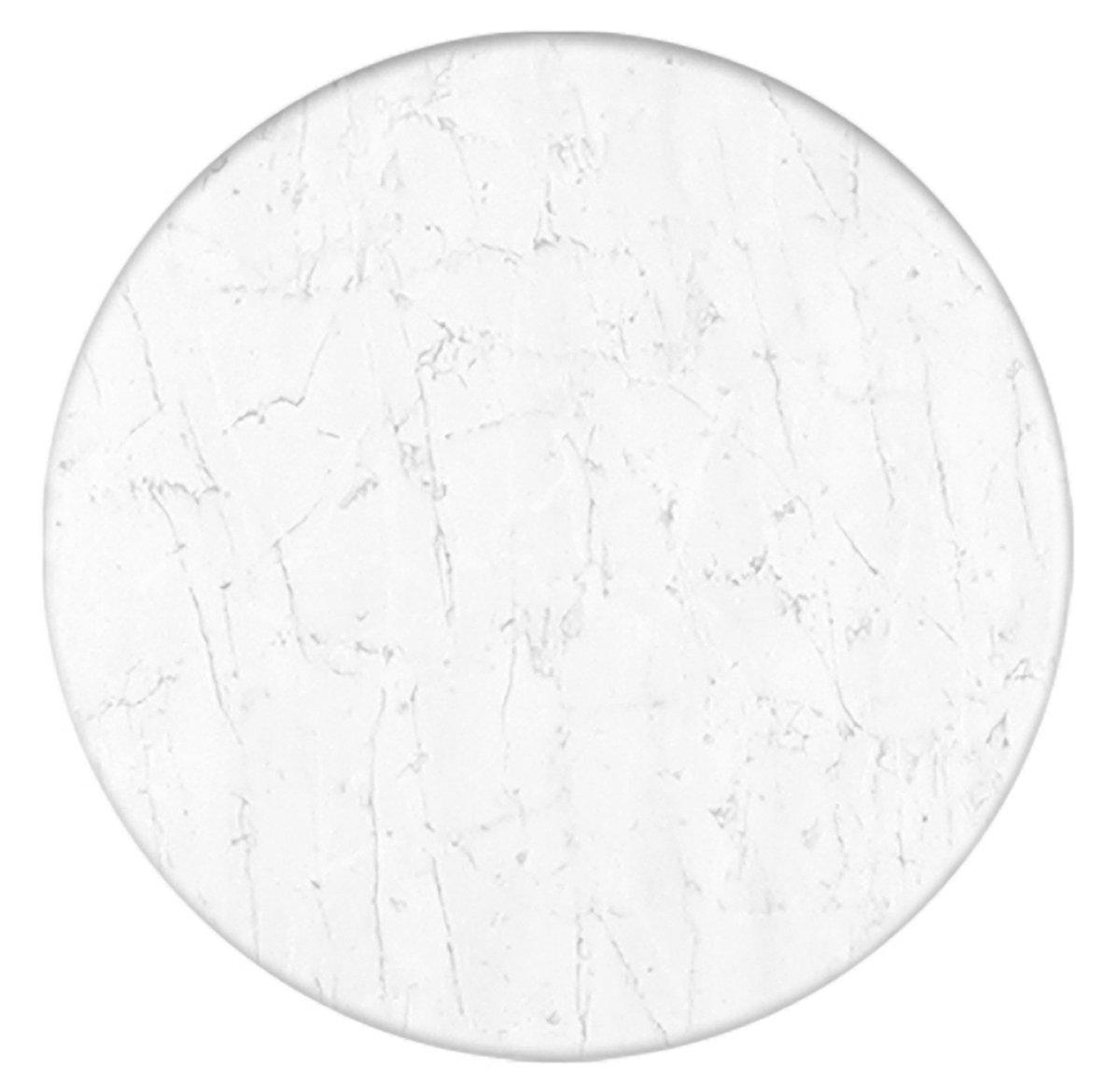 Werzalit Tischplatte Dekor marmor bianco rund 80 cm