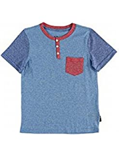 Brooklyn Cloth Red Boys Large Colorblock Pocket T-Shirt