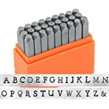 ImpressArt- Basic Newsprint Uppercase Letter Metal Stamp Set