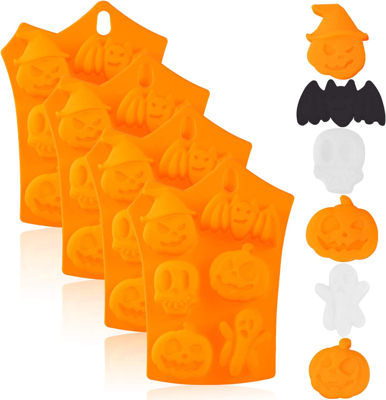Halloween molds Cake Pumpkin Chocolate Bat Skull Jelly Silicone Mold Baking Tool