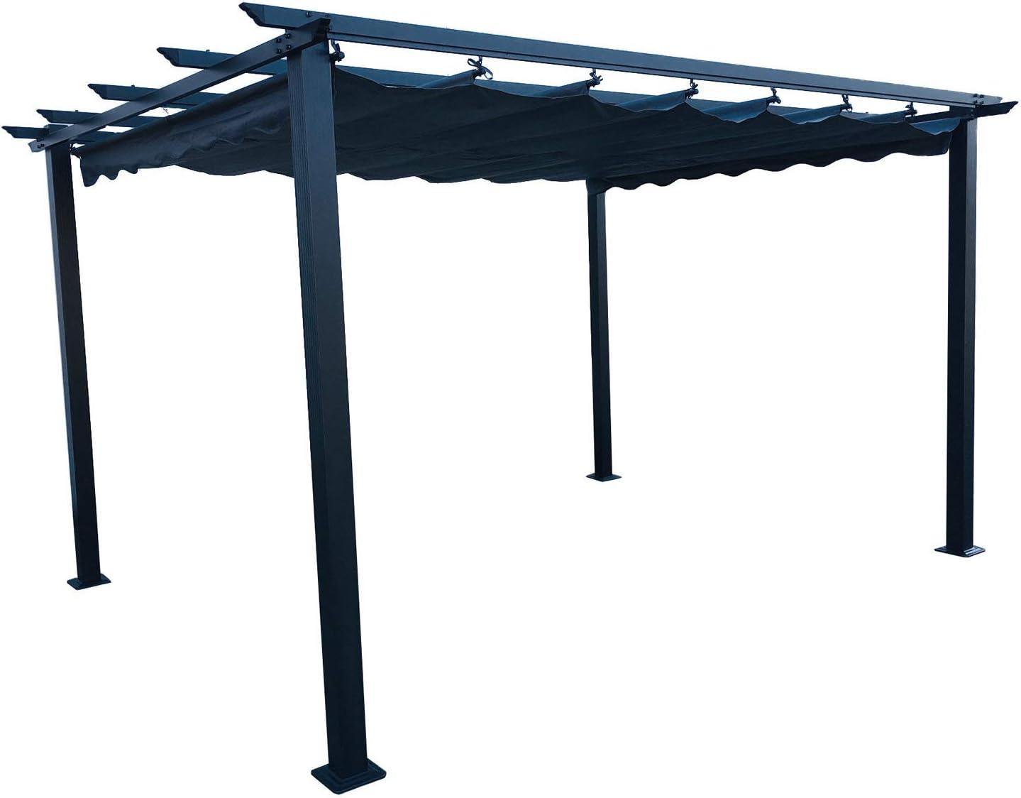 Hagardo Florida Pergola - Toldo (3 x 4 m, Aluminio, con Techo ...