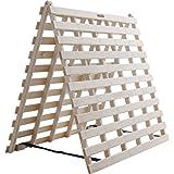 アイリスプラザ すのこマット 桐 二つ折り シングル 天然木 折りたたみ ベッド通気性