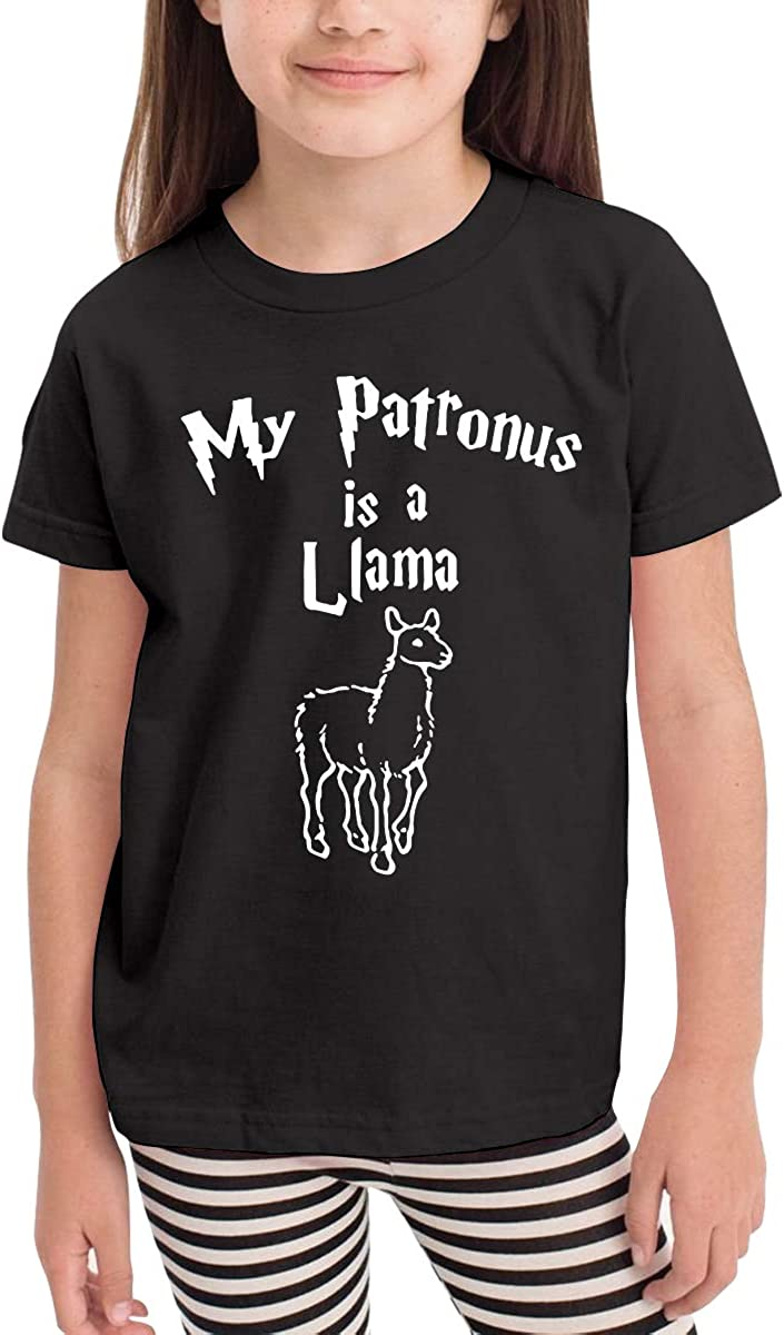 Kcloer24 Baby Boy My Patronus is A Llama Personality T-Shirt Summer Clothes for 2-6 Years Old