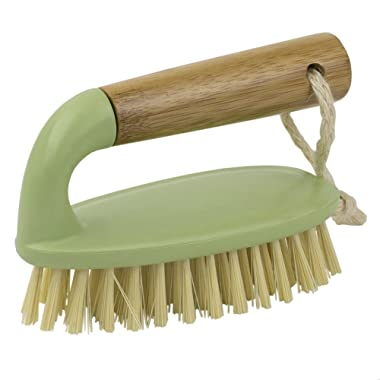 Home Basics Bliss Collection Bamboo Cleaning Supplies, Green (Scrub Brush)