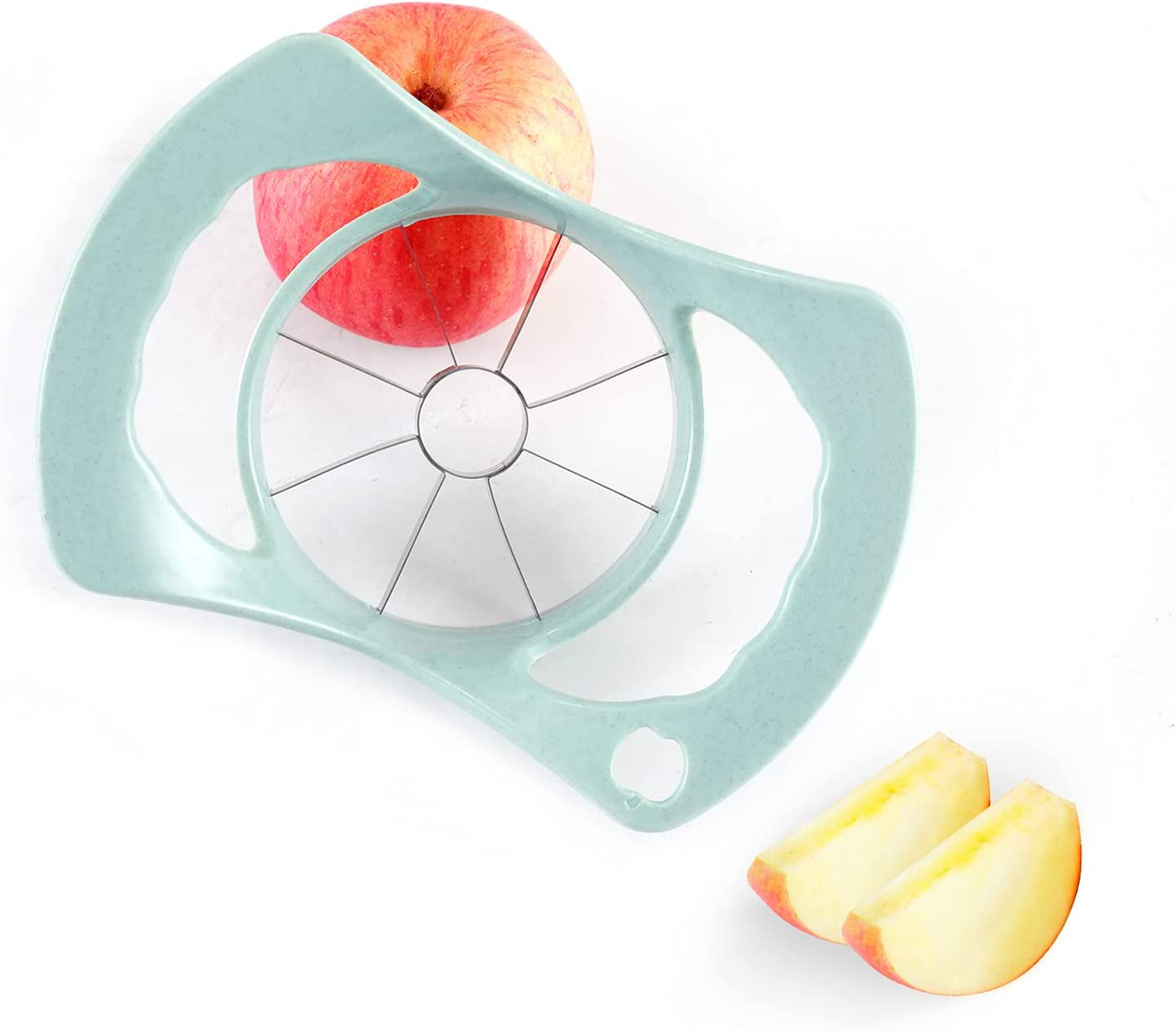 Premium 8 blade Apple Cutter, Easy Grip Apple Slicer and Corer, Kitchen Fruit Slicer Tool
