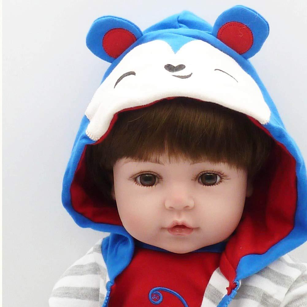 Cenphua Reborn Baby Doll Corpo in Vinile Pieno Silicone Realistico da 48 cm Bambole realistiche da 19 Pollici con Ciuccio Magnetico per Il Regalo di Natale