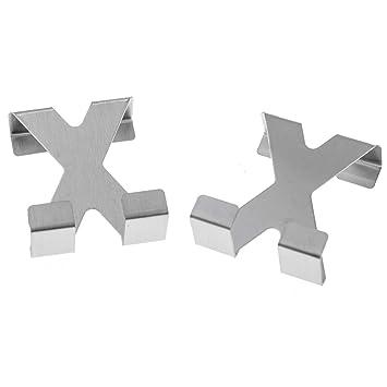 SIDCO ® 2 X Türhaken Kleiderhaken Garderobenhaken Türhänger Doppel Haken Tür  Edelstahl