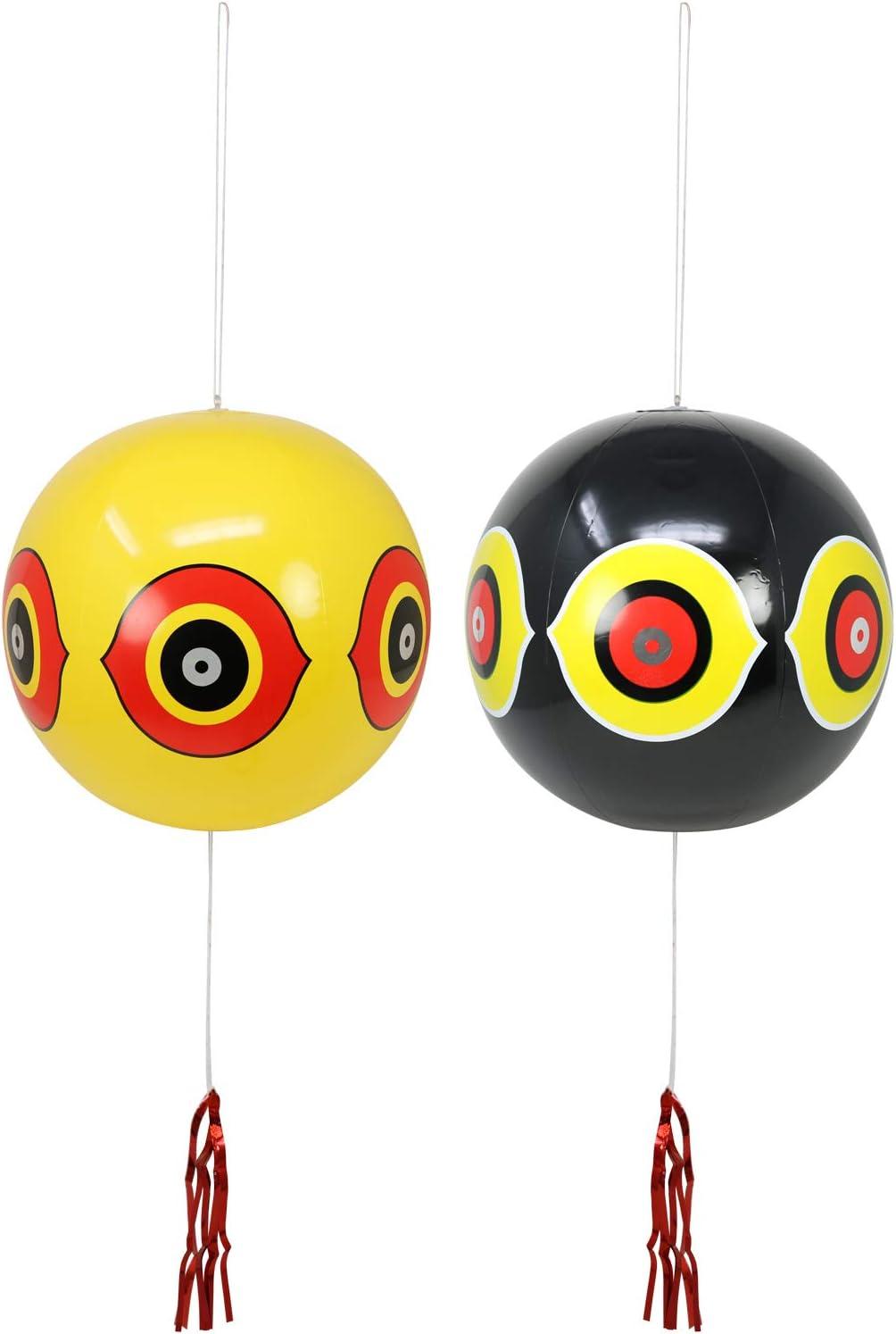 com-four® 2X Bird Defense como Globo, Ø 35 cm (02 Piezas - Globo)