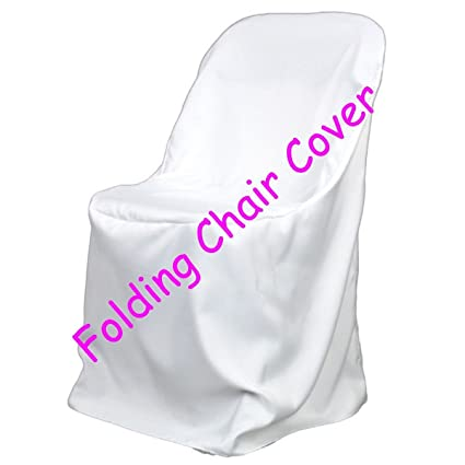 amazon com 25 brand new white polyester folding chair covers home