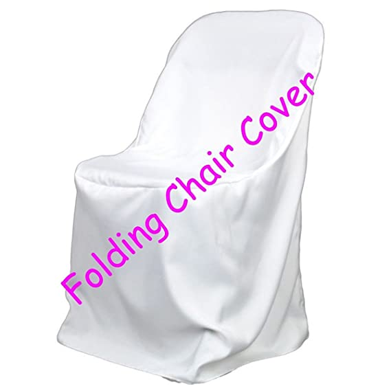 Miraculous 25 Brand New White Polyester Folding Chair Covers Unemploymentrelief Wooden Chair Designs For Living Room Unemploymentrelieforg