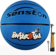 Senston Kids Junior Basketball Balls Size 5 Basketballs Outdoor/Indoor Game Basket Ball with Pump, Needles, Ba