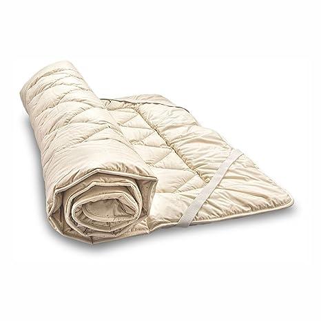 Woll de cubrecama bio de oveja y de algodón ecológico, algodón Berger. Colchón,