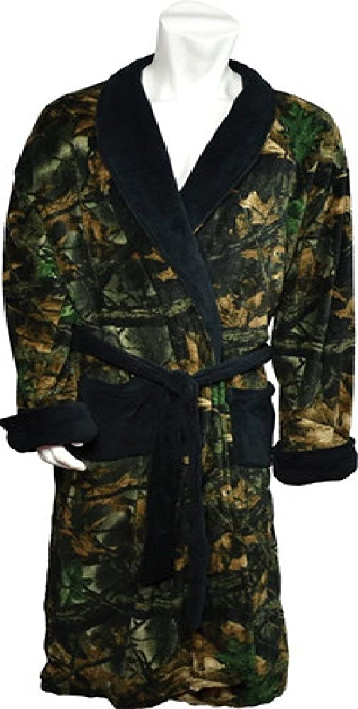 TrailCrest Camo with Black Accents Mens Robe 2931-13