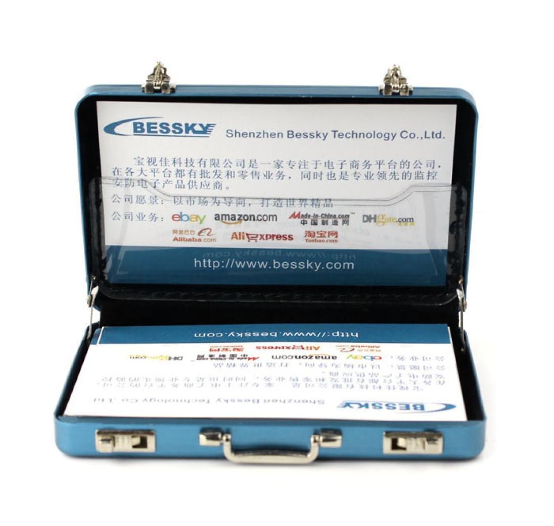 Malloom® tarjetero Tarjeta de crédito portatarjetas nuevo metal Mini Maletín Maleta Business Bank (azul)