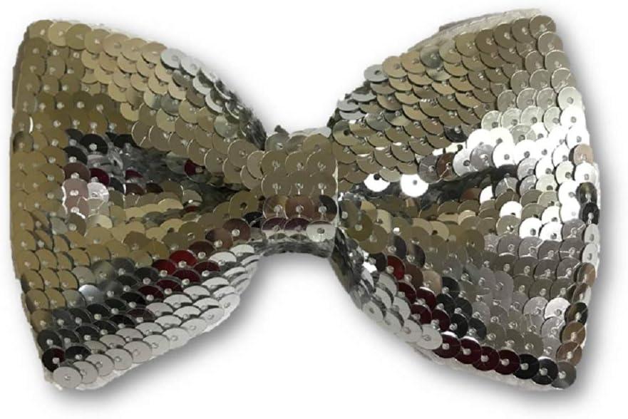 Forum Novelties Sequin Bow Tie - Silver Accessory