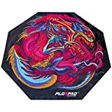 Florpad Hyper Beast Gaming Office Chair Mat   Protects All Floors   Liquid Resistant   Noise Cancelling   Smooth Surface 45'' x 45''