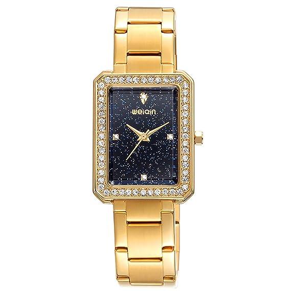 MODIWEN - Reloj de Pulsera para Mujer, de Cuarzo, Rectangular, para Mujer, analógico: Amazon.es: Relojes