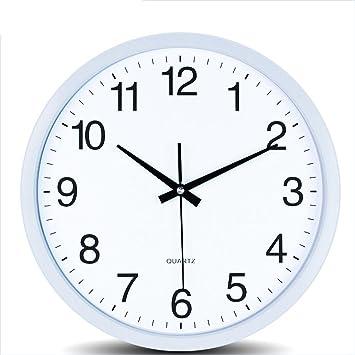 Amazon De Wanduhr 14 Zoll Kreis Buro Wanduhr Wohnzimmer Stumm Uhr