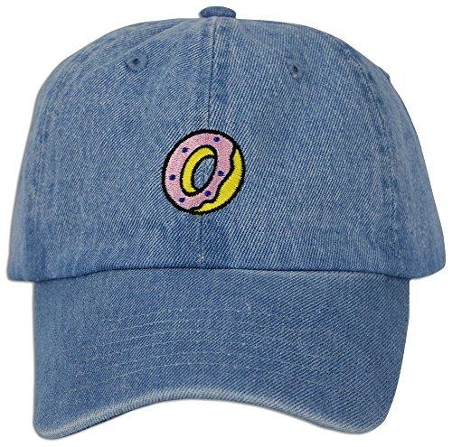 Embroidered Cap Polo Style Baseball Curved Unstructured Bill (Lt. Blue Denim) ()