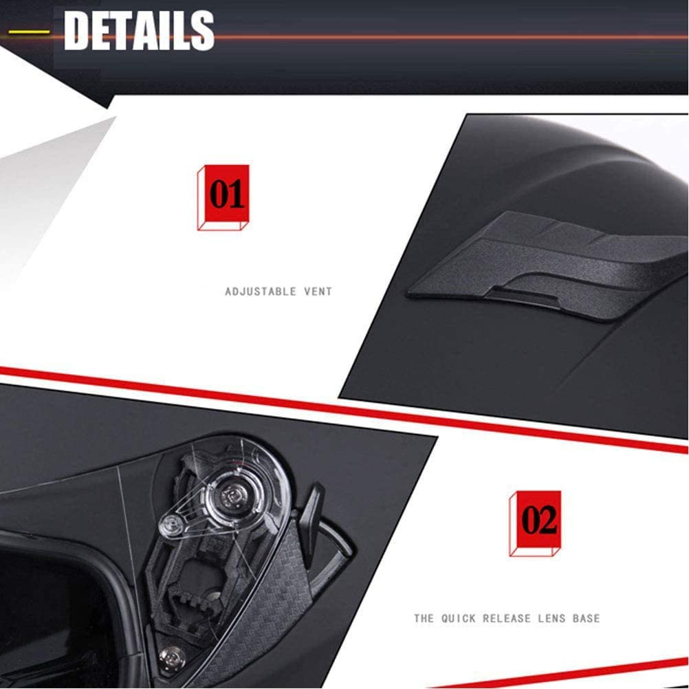 Confortable /à Porter avec 2 visi/ères Dot et Sun Certification ECE,4,M XIYAN Unisexe Casque de Moto personnalis/é antibu/ée Moto modulaire Casque int/égral
