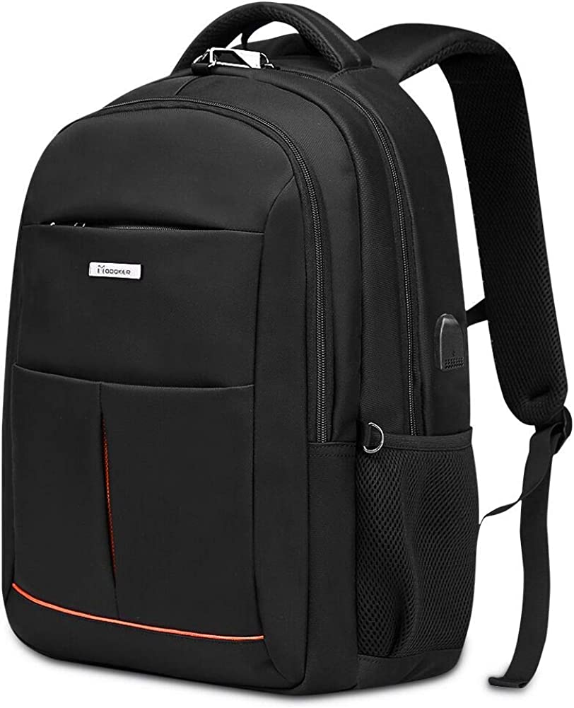 Travel Business Laptop Backpack for Mens,Fits 15.6 Inch Computer and Notebook with USB Charging Port