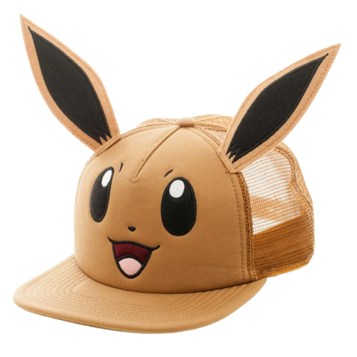 Pokemon Eevee Big Face with Ears Snapback Trucker Hat BioWorld 2290420
