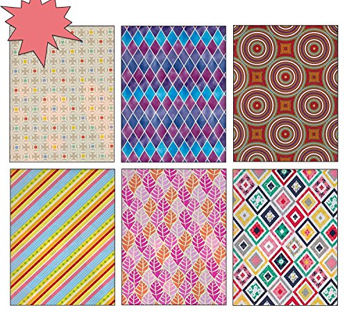 The Gift Wrap Company Gift rapping Paper with Geometric Patterns, 8 Feet X 30 Inch Rolls by The Gift Wrap Company