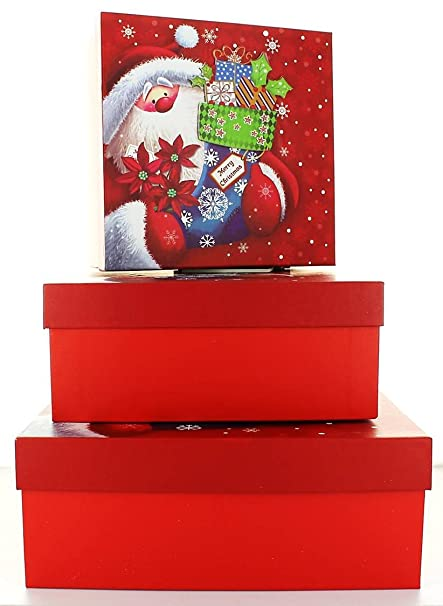 Large christmas nested gift boxes