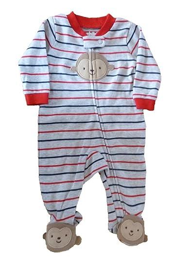 257cfe3caeef Amazon.com  Baby Boys Child of Mine Striped Cotton Sleep  N Play ...